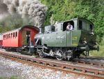 Foto und elektronische Grußkarte von der Dampflok Rosa der Rohrschach-Heiden-Bergbahn