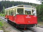 Foto und elektronische Grußkarte vom Personenwagen der Oberweißbacher Bergbahn