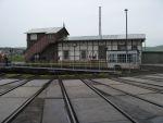 Foto und elektronische Grußkarte von der Drehscheibe und der Lokleitung des BW Arnstadt (hist)