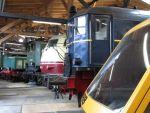 Foto und elektronische Grußkarte von Lokomotiven in der Lokwelt Freilassing