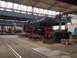 Lokomotive im Dampflokwerk Meiningen
