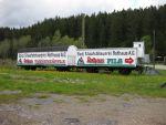 Foto und elektronische Postkarte vom Güterwagen am Bahnhof Seebrugg der 3-Seen-Bahn