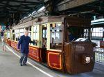 Foto und elektronische Gru�karte vom Kaiserwagen der Wuppertaler Schwebebahn