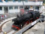 Foto und elektronische Grußkarte von der Dampflok 38 1303 in der Lokwelt Freilassing