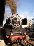 Foto und elektronische Grußkarte von der Dampflok 50 3655 beim Müngstener Brückenfest in Solingen-Ohligs