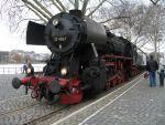 Foto und elektronische Grußkarte von der Dampflokomotive 52 4867 in Frankfurt