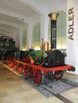 Foto und Grußkarte vom historischen Adler im Verkehrsmuseum Nürnberg