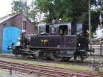 Foto und elektronische Grußkarte von der Lokomotive F654 der Angelner Dampfeisenbahn im Bahnhof Kappeln