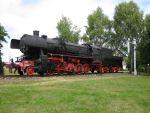 Foto und elektronische Grußkarte von der Dampflok 52 5679 im Eisenbahnmuseum Falkenberg