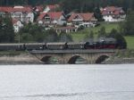Foto und elektronische Postkarte von der 3-Seenbahn mit Lok 52 7596 in Schluchsee