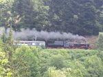 Foto und elektronische Postkarte von der Dampflok 52 7596 der Zollernbahn bei Triberg