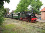 Foto und elektronische Grußkarte vom Dampfzug der Museumseisenbahn Bruchhausen-Vilsen mit der Dampflok Hoya in Asendorf