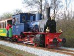 Foto und elektronische Grußkarte von der Dampflok Borkum auf der Borkumer Kleinbahn