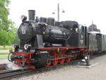 Foto und elektronische Grußkarte von der Dampflok 20 der Mansfelder Bergwerksbahn