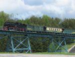 Foto und elektronische Grußkarte von der Fichtelbergbahn auf dem Hüttenbachviadukt bei Oberwiesenthal