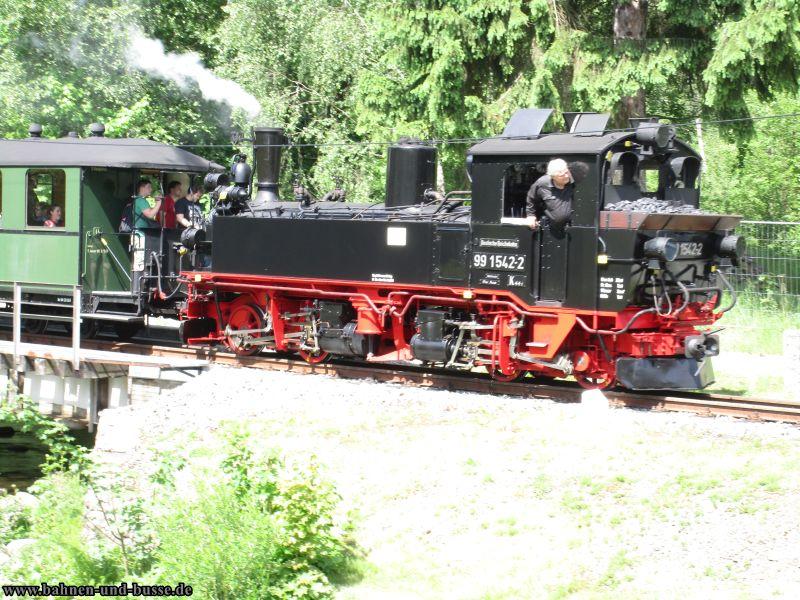 Foto und elektronische Grußkarte von der Sächsische Mallet-Lok IV K 99 1542 auf der Pressnitztalbahn