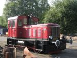 Foto und elektronische Grußkarte von der Diesellokomotive V23 der Hasetalbahn in Haselünne
