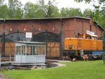 Foto und elektronische Grußkarte von der Diesellok 106 992 1 am Eisenbahnmuseum Lokschuppen Schwarzenberg