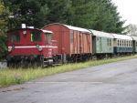 Foto und elektronische Grußkarte von einem Zug der Ostertalbahn in Schwarzerden