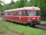 Foto und elektronische Grußkarte vom Esslinger Dieseltriebwagen VT 452 der AVG