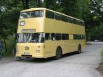 Foto und elektronische Grußkarte vom Doppeldeckerbus Büssing DE auf der historischen Buslinie 218