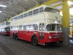 Foto und elektronische Grußkarte vom Doppeldecker-Bus DD 2 FU im Wiener Straßenbahnmuseum