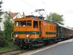 Foto und elektronische Grußkarte von der Elektrolok E22 der Extertalbahn in Bösingfeld