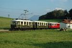 Foto und elektronische Grußkarte vom ET 7 der Salzburger Lokalbahn bei Muntigl