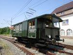 Foto und elektronische Postkarte vom Elektrotriebwagen T1 Zeug Christe in Trossingen