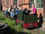 Foto und elektronische Grußkarte von der Feldbahn am Lokschuppen Aumühle