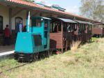 Foto und elektronische Grußkarte von der Feldbahn Burgsittensen mit der Lokomotive Schöma