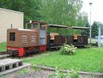 Foto und elektronische Grußkarte von der Feldbahn im Sächsischen Eisenbahnmuseum Chemnitz