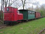 Foto und elektronische Grußkarte von der Deutz-Lokomotive Nr. 14 des Deutschen Feld- und Kleinbahnmuseums in Deinste
