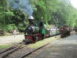 Foto und elektronische Grußkarte vom Dampfzug mit Lok 11 im Feldbahnmuseum Herrenleite