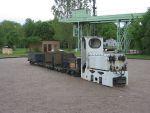 Foto und elektronische Grußkarte von einem Zug mit Akkulok EL 9 im Ziegeleipark Mildenberg