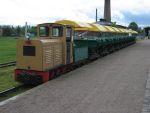 Foto und elektronische Grußkarte von der Tonlorenbahn im Ziegeleipark Mildenberg