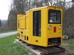 Foto und elektronische Grußkarte vom einer Grubenbahnlokomotive im Feld- und Grubenbahnmuseum Solms