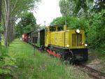 Foto und elektronische Gru�karte von der Berliner Parkeisenbahn Wuhlheide
