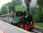 Foto und elektronische Gru�karte vom Dampfzug der Parkeisenbahn Chemnitz