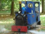 Foto und elektronische Gru�karte von der Dampflok Stan auf der Parkeisenbahn Schmiden