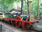 Foto und elektronische Grußkarte vom hitorischen Adler der Parkeisenbahn Görlitz
