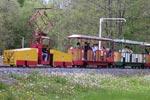 Foto und elektronische Grußkarte von der Lokomotive EL30-Tandem der Parkeisenbahn Syratal in  Plauen