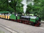Foto und elektronische Gru�karte von der Killesbergbahn in Stuttgart mit Lok Tazzelwurm