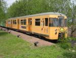 Foto und elektronische Grußkarte von der Expo-S-Bahn aus Hamburg im Erlebnisbahnhof Schmilau