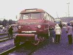 Foto und elektronische Grußkarte vom Schienen-Straßenbus im Eisenbahnmuseum Bochum Dahlhausen