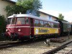 Foto und elektronische Grußkarte vom VT 26 auf der Chiemgauer Lokalbahn