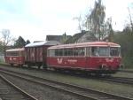 Foto und elektronische Grußkarte vom Uerdinger Schienenbus Moorexpress in Bremervörde