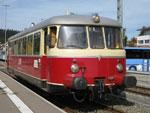 Foto und elektronische Grußkarte vom Triebwagen VT 8 der Schwäbischen Albbahn