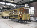 Foto und elektronische Gru�karte vom Stra�enbahn-Wagen 407 im K�lner Stra�enbahnmuseum