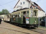 Foto und elektronische Grußkarte vom Triebwagen 876 der Freunde der Nürnberg-Fürther Straßenbahn